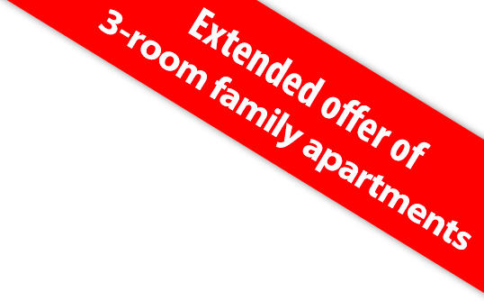 Extended offer of 3-room family apartments